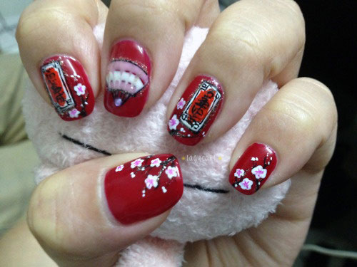 Stunning-Chinese-Symbol-Flower-Nail-Art-Designs-Ideas-2014-7