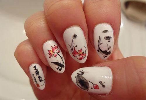 Stunning-Chinese-Symbol-Flower-Nail-Art-Designs-Ideas-2014-9