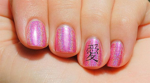 Stunning-Chinese-Symbol-Flower-Nail-Art-Designs-Ideas-2014-9