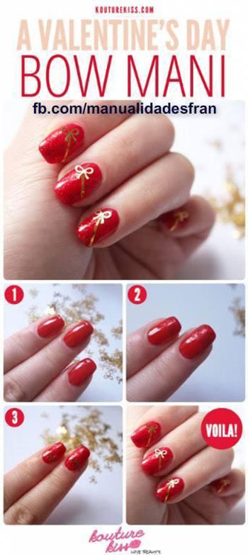Very-Easy-Valentines-Day-Nail-Art-Tutorials-2014-For-Beginners-Learners-1