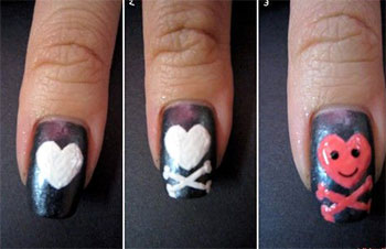 Very-Easy-Valentines-Day-Nail-Art-Tutorials-2014-For-Beginners-Learners-10