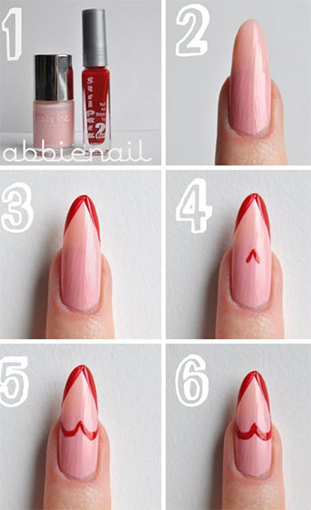 Very-Easy-Valentines-Day-Nail-Art-Tutorials-2014-For-Beginners-Learners-5
