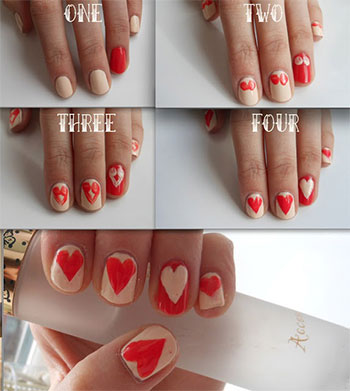 very easy valentine's day nail art tutorials 2014 for