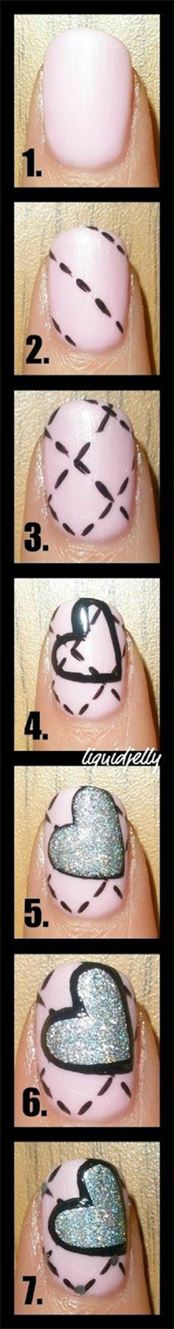 Very-Easy-Valentines-Day-Nail-Art-Tutorials-2014-For-Beginners-Learners-8