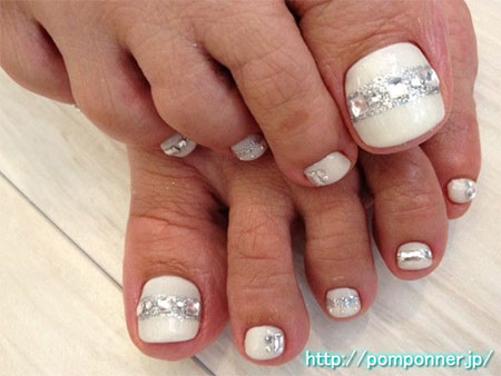 Wedding Toe Nail Art - Wedding Toe Nail Art Designs & Ideas 2014 Fabulous Nail Art Designs