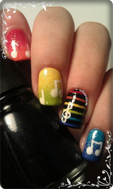 Art Designs: Amazing Music Nail Art Designs, Ideas & Trends 2014