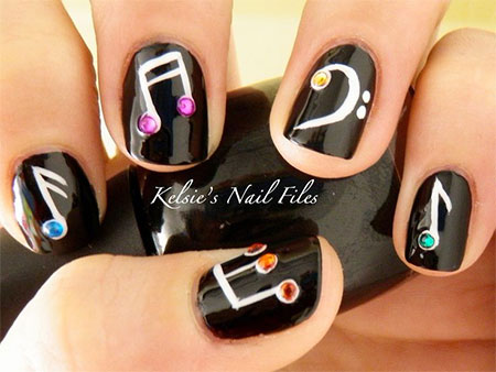 Amazing-Music-Notes-Nail-Art-Designs-Ideas-Trends- - Amazing Music Notes Nail Art Designs, Ideas & Trends 2014