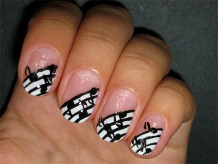 Cool Music Notes Nail Art Designs Ideas Trends