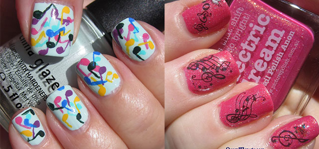 Cool-Music-Notes-Nail-Art-Designs-Ideas-Trends-2014