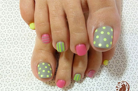 Toe Nail Designs Ideas easy toe nail design ideas to do art home Cool Spring Toe Nail Art Designs Ideas Trends