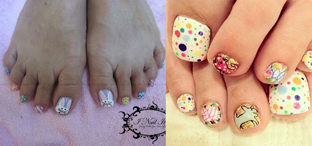 easter toe nail art designs ideas 2014 fabulous nail art designs