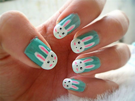 Easy-Easter-Bunny-Nail-Art-Designs-Ideas-2014- - Easy Easter Bunny Nail Art Designs & Ideas 2014 For Beginners