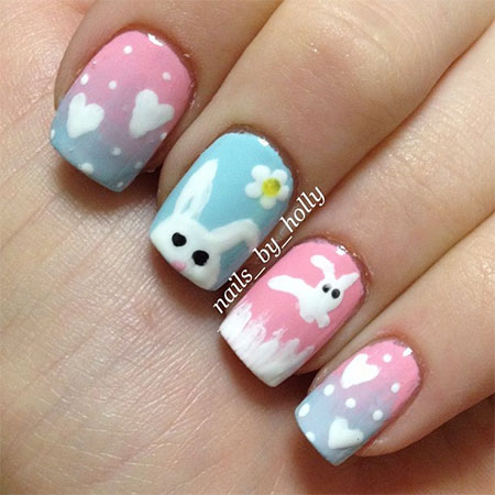 Easy-Easter-Bunny-Nail-Art-Designs-Ideas-2014-For-Beginners-10