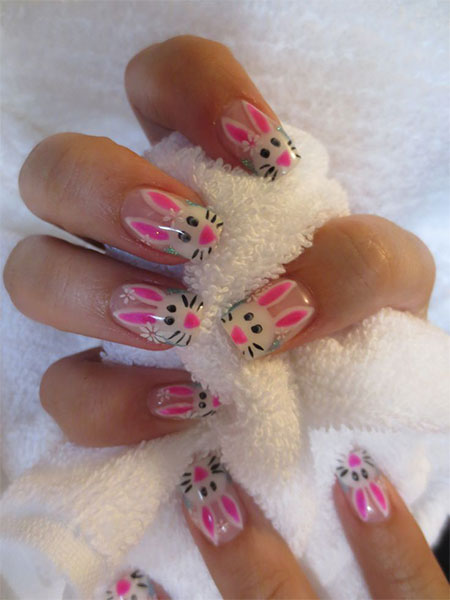 Easy-Easter-Bunny-Nail-Art-Designs-Ideas-2014-For-Beginners-11
