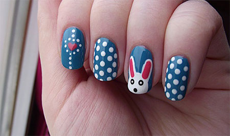 Easy-Easter-Bunny-Nail-Art-Designs-Ideas-2014-For-Beginners-12