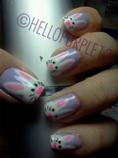 Easy-Easter-Bunny-Nail-Art-Designs-Ideas-2014-For-Beginners-13