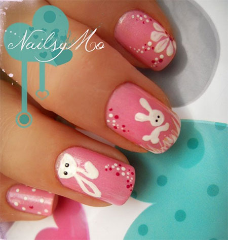 Easy-Easter-Bunny-Nail-Art-Designs-Ideas-2014-For-Beginners-15