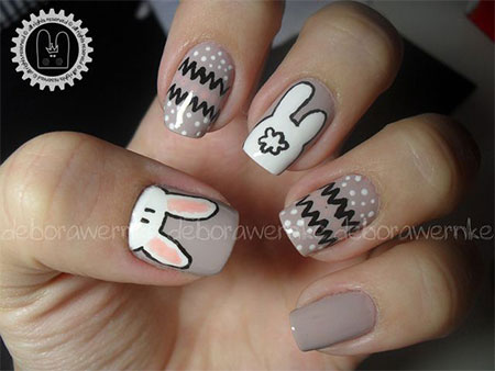 Easy-Easter-Bunny-Nail-Art-Designs-Ideas-2014-For-Beginners-3