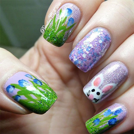 Easy-Easter-Bunny-Nail-Art-Designs-Ideas-2014-For-Beginners-4