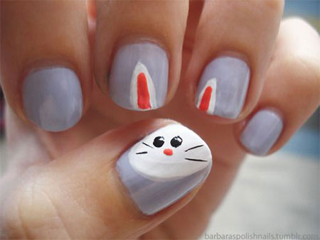 Easy-Easter-Bunny-Nail-Art-Designs-Ideas-2014-For-Beginners-5