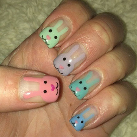 Easy-Easter-Bunny-Nail-Art-Designs-Ideas-2014-For-Beginners-6