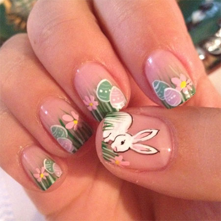 Easy easter bunny nail art designs ideas 2014 for beginners easy easter bunny nail art designs ideas 2014 prinsesfo Gallery