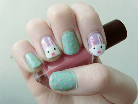 Easy-Easter-Bunny-Nail-Art-Designs-Ideas-2014-For-Beginners-9