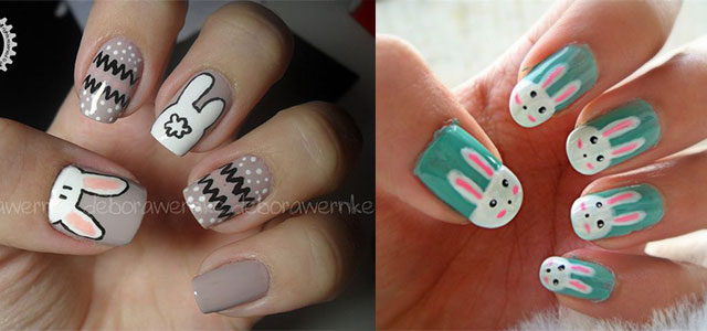 easy easter bunny nail art designs ideas 2014 for beginners fabulous nail art designs