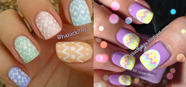 Easy Easter-Themed Egg Nail Art Designs & Ideas 2014 | Fabulous Nail Art  Designs - Easy Easter-Themed Egg Nail Art Designs & Ideas 2014 Fabulous