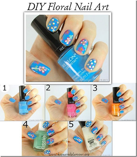 Easy-Simple-Spring-Nail-Art-Tutorials-2014-For-Beginners-Learners-2