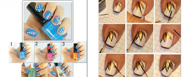 Easy-Simple-Spring-Nail-Art-Tutorials-2014-For-Beginners-Learners