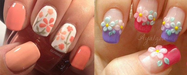 Easy-Spring-Nail-Art-Designs-Ideas-Trends-2014-For-Beginners