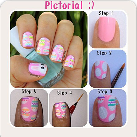 Elegant-Easter-Nail-Art-Tutorials-For-Beginners-Learners-2014-1