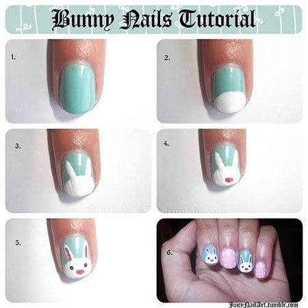 Elegant-Easter-Nail-Art-Tutorials-For-Beginners-Learners-2014-4