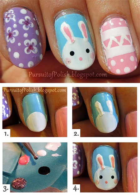 Elegant-Easter-Nail-Art-Tutorials-For-Beginners-Learners-2014-5