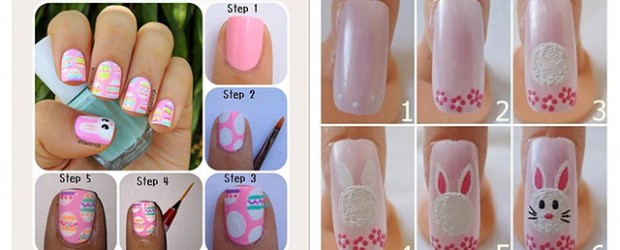 Elegant-Easter-Nail-Art-Tutorials-For-Beginners-Learners-2014