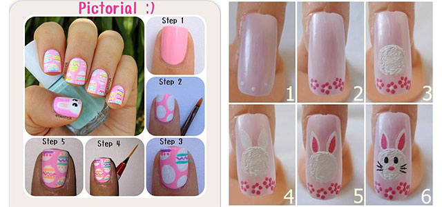 Elegant Easter Nail Art Tutorials For Beginners Learners 2014