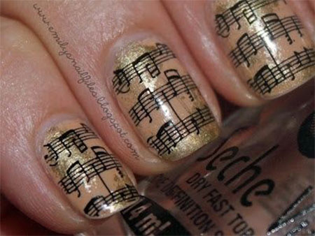 Inspiring-Sheet-Music-Nail-Art-Designs-Ideas-Trends-2014-12