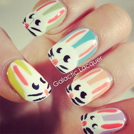 Simple-Easter-Bunny-Nail-Art-Designs-Ideas-2014-For-Learners-1