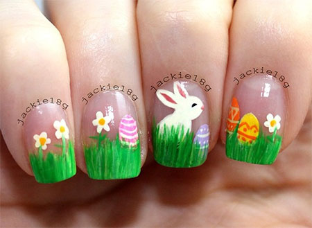 Simple-Easter-Bunny-Nail-Art-Designs-Ideas-2014-For-Learners-10