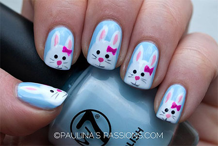 Simple-Easter-Bunny-Nail-Art-Designs-Ideas-2014-For-Learners-11