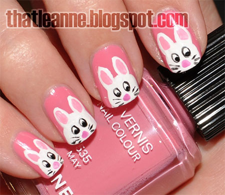 Simple-Easter-Bunny-Nail-Art-Designs-Ideas-2014-For-Learners-12