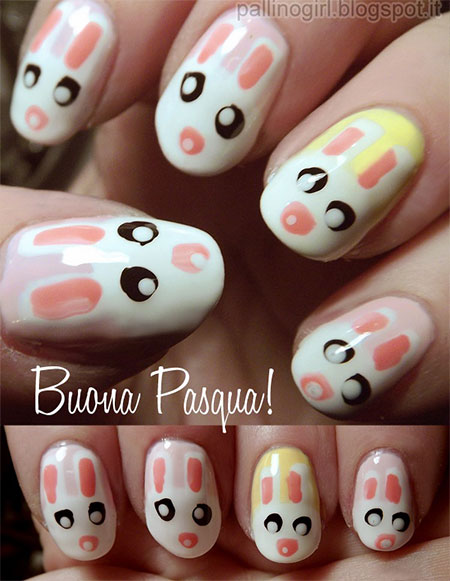Simple-Easter-Bunny-Nail-Art-Designs-Ideas-2014-For-Learners-2