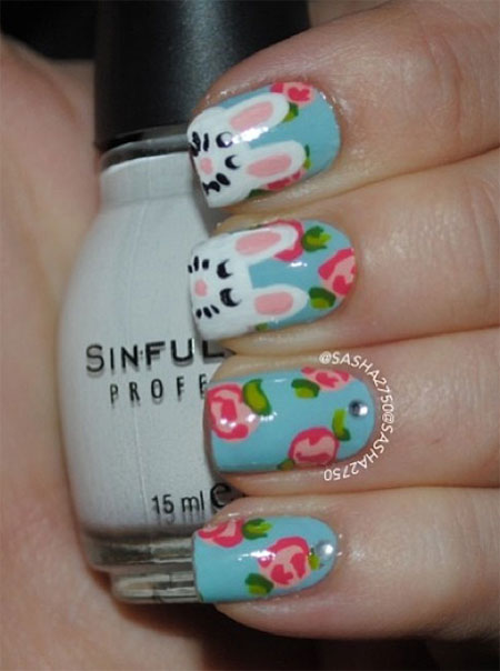 Simple-Easter-Bunny-Nail-Art-Designs-Ideas-2014-For-Learners-3