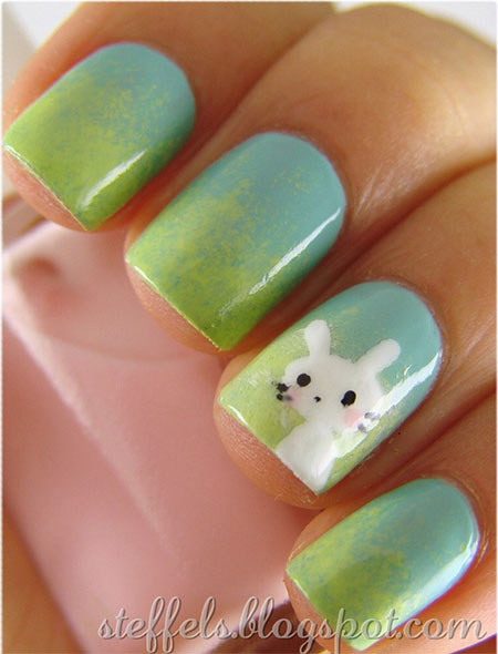 Simple-Easter-Bunny-Nail-Art-Designs-Ideas-2014-For-Learners-4