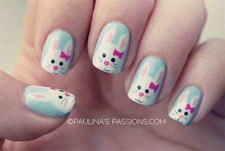 Simple-Easter-Bunny-Nail-Art-Designs-Ideas-2014-For-Learners-5