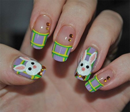 Simple-Easter-Bunny-Nail-Art-Designs-Ideas-2014-For-Learners-6
