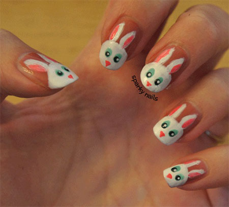 Simple-Easter-Bunny-Nail-Art-Designs-Ideas-2014-For-Learners-7