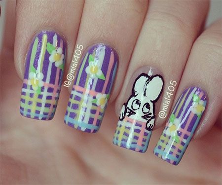 Simple-Easter-Bunny-Nail-Art-Designs-Ideas-2014-For-Learners-8