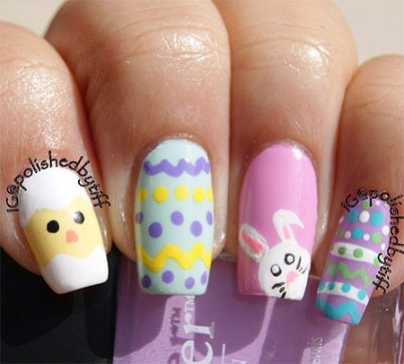 Simple-Easter-Bunny-Nail-Art-Designs-Ideas-2014-For-Learners-9